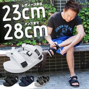 スポサン スポーツサンダル メンズ レディース 厚底 ストラップ|longpshoe