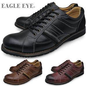 EAGLE EYE イーグルアイ メンズ アンティーク加工 カジュアルシューズ 黒 茶色 赤 ブラック ブラウン ワイン 靴 くつ EE-2179|longpshoe