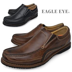 EAGLE EYE イーグルアイ メンズ スリッポン アンティーク加工 黒 茶色 ブラック ブラウン 靴 くつ EE-2180|longpshoe