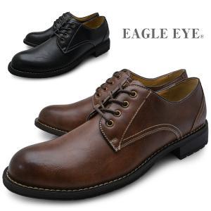 EAGLE EYE イーグルアイ メンズ アンティーク加工 カジュアルシューズ プレーントゥ 黒 茶色 ブラック ブラウン 靴 くつ EE-2181|longpshoe