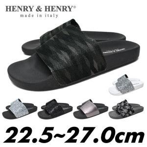 henry&henry コンフォートサンダル メンズ レディース 白 黒 銀 スパンコール|longpshoe