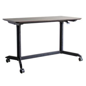 スタンディングテーブル 幅120cm オフィスデスク デスク 机 PC カウンターテーブル リフティングテーブル 昇降テーブル 木製 ダイニングテーブル MOD MODE-120|lookit