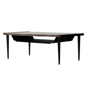 リビングテーブル 幅105cm ダイニングテーブル 机 食卓 棚 おしゃれ コーヒーテーブル カフェ ヴィンテージ 個性的 デスク センターテーブル TEN TEN-LT105|lookit
