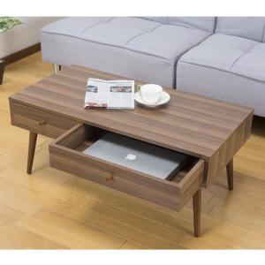 リビングテーブル センターテーブル コーヒーテーブル ローテーブル カフェテーブル おしゃれ かわいい 引き出し 白 北欧 座卓 収納テーブル 木製 LTSH-800|lookit