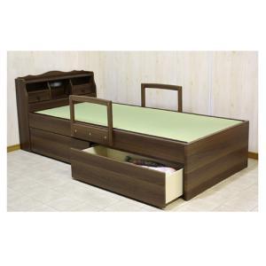 畳ベッド セミダブル 収納付きベッド 介護ベッド ライト付き スイートSD|lookit