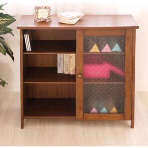 サイドボード 木製 棚 キャビネット 収納 レトロ 75-310|lookit