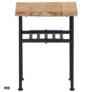 サイドテーブル カフェテーブル テーブル 机 つくえ 北欧 カントリー 可愛い かわいい お洒落 おしゃれ リビング 人気 木製 table 家具 82-625|lookit