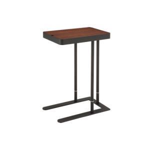 サイドテーブル 昇降式 木製天板 木製テーブル 高さ調節 ブラウン ナチュラル つくえ 机 テーブル SST-810 送料無料|lookit