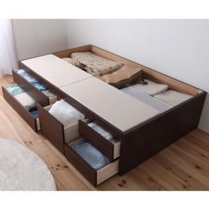 チェストベッド セミダブル ベッドフレーム 引出し スライドレール付き ヘッドレス コンパクト 大容量 収納ベッド 送料無料 木製 シンプル C-HMB53-SD-F lookit