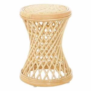 スツール 送料無料 木製チェア 籐スツール ラタンチェア 籐椅子 ラタンスツール 温泉旅館 軽量 天然素材 腰掛け ラタンファニチャー 玄関 洗面所 C414N lookit