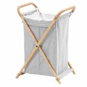 ランドリーバスケット 送料無料 洗濯物カゴ ランドリーボックス 洗濯物入れ ランドリーワゴン リネン類 洋服収納 整理 タオル収納 ナチュラル雑貨 Y801MER|lookit