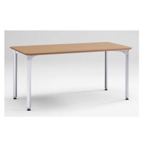 ミーティングテーブル 幅150×奥行75cm 送料無料 会議テーブル 作業テーブル オフィステーブル オフィス家具 角型テーブル オフィス 会議室 4L15EA-M|lookit