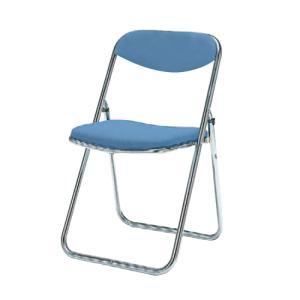 パイプイス 送料無料 布張りチェア 抗菌性 セーフティリンク構造 折りたたみ椅子 オフィスチェア オフィス家具 事務所 教育施設 8151DX-F|lookit