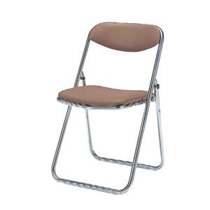 パイプイス 送料無料 抗菌性レザー張り ビニールレザー 折りたたみチェア 折り畳み椅子 オフィス家具 オフィスチェア イス セミナー 講演会 8151DX-P|lookit