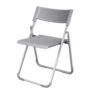 パイプイス 送料無料 折りたたみチェア 折り畳み椅子 ペールグレー セミナーチェア オフィス家具 研修所 会議室 イス チェア 8159GZ-G726|lookit