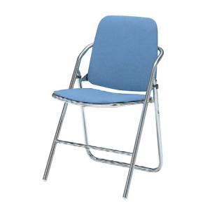 パイプイス 送料無料 布張りチェア 折りたたみチェア 折り畳み椅子 オフィスチェア オフィス家具 チェア 椅子 会議室 セミナー 講演会 8160DZ-F|lookit