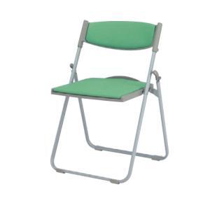 パイプイス 送料無料 グレーシェル 背・座パットタイプ 折りたたみ椅子 折り畳みチェア オフィスチェア 学校 会議室 オフィス家具 8168AY-P|lookit
