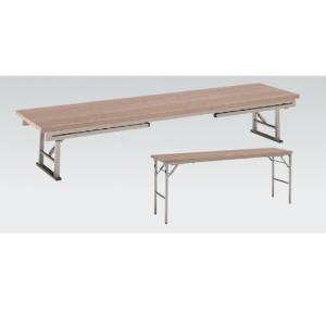 折りたたみ会議テーブル 座卓兼用 幅180×奥行60cm 送料無料  折れ脚テーブル ローテーブル テーブル 作業台 オフィス家具 教育施設 8186JZ-M|lookit