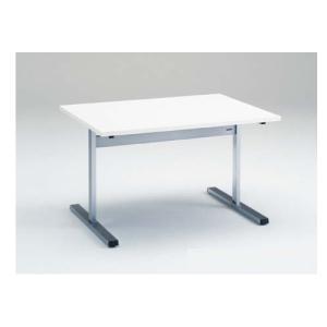 ダイニングテーブル 幅120×奥行90cm 送料無料 ランチテーブル 食堂テーブル ミーティングテーブル T字脚テーブル 机 オフィス家具 9312BD-MP lookit