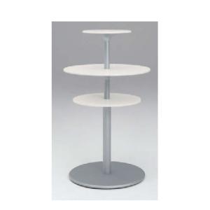 ラウンジテーブル 送料無料 3段ユニット 3段テーブル ホワイトテーブル モダン ロビー 休憩スペース オフィス家具 テーブル L401RF-WB01|lookit
