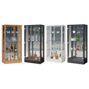 コレクションラック 送料無料 ショーケース ガラスキャビネット キッチンボード 食器棚 収納 ガラス キュート60コレクション CUTE-60CR 【着日指定不可】|lookit