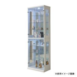 コレクションラック 送料無料 幅65×高さ200cm コレクションボード ガラス製収納 ディスプレイラック フェラード 65コレクション FERADO-65CR 【着日指定不可】|lookit