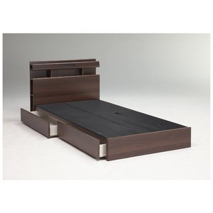 ベッドフレーム シングル 送料無料 引出し付きタイプ 収納付きベッド 木製ベッドフレーム 棚付き フィーノ Sフレーム(BOX)FINO-BHBOXS 【着日指定不可】 lookit