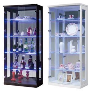 コレクションラック 送料無料 ガラスキャビネット 収納棚 ガラス棚 ショーケース 飾り棚 ジョイ70コレクションボード(H)ライト付 JOY-70CRH 【着日指定不可】|lookit
