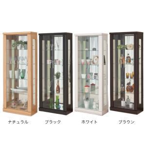 コレクションラック 送料無料 ミホーク 62コレクション 飾り棚 カップボード 食器棚 コレクションボード ガラス棚 MIHAWK-62CR 【着日指定不可】|lookit