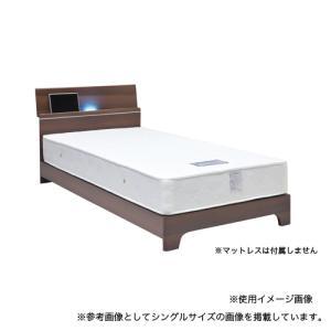 ベッドフレーム セミダブル 送料無料 木製フレーム 照明付きベッドフレーム 棚付きベッド ベッド ヴェゼル SDベッドフレーム VEZEL-BHSD 【着日指定不可】|lookit