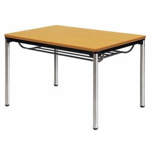 会議テーブル 棚付 ステンレス 小型 会議 ATXS-1275SE 送料無料 lookit