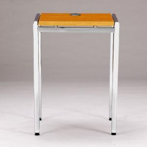 応接テーブル サイドテーブル 電話台 角型 正方形 ロビー テーブル オフィス家具 高級 応接用 棚 FAX台 花台 小物置き マホガニー オーク 送料無料 CT-640P|lookit