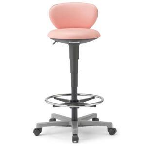 【法人限定】 ハイスツール 背付き 送料無料 キャスター付きチェア ハイチェア スツール オフィス家具 オフィスチェア チェア 椅子 DC-250|lookit