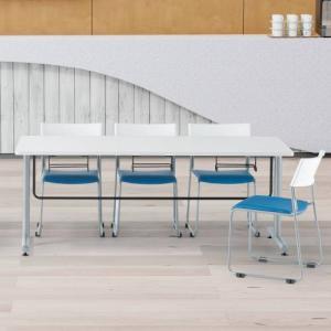 【法人限定】 テーブル チェア セット 6人用 会議テーブル ミーティングチェア 7点セット 会議セット ミーティングテーブル 椅子掛け 食堂テーブル GY-1875S lookit