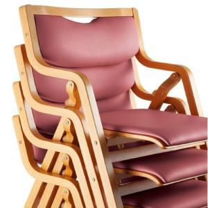 【法人限定】ダイニングチェア 折りたたみ式 木製 スタッキングチェア 病院 待合室 椅子 肘掛 肘付き 食堂用 会議椅子 ミーティングチェア  MW-300V|lookit