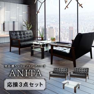 応接セット 3点セット ソファー 応接テーブル 応接ソファ 応接椅子 北欧 ソファセット 応接 セット 北欧 応接チェア アニータ ANITA-2P2T5S 法人送料無料 lookit
