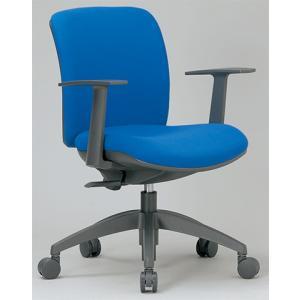 チェア ローバック 肘付 キャスター付 布張り ビニールレザー張り 11色展開 回転イス オフィスチェア 事務用椅子 OA-2115 送料無料|lookit