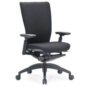 エルゴノミクスチェア ミドルバック 可動肘付 キャスター付 布張り  オフィスチェア エグゼクティブチェア 事務用椅子 R-5515 送料無料 lookit