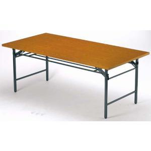 折り畳み会議テーブル 共貼り つくえ 小型 T-1245 送料無料|lookit