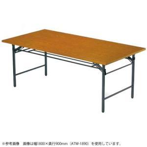 折り畳み会議テーブル コンパクト 小型 共貼り TW-1245|lookit
