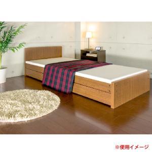 パネルベッド セミシングル 引き出し付き SS 日本製 国産 ベッド キャスター付収納 シングルパネルベッド 収納ベッド パネル 引出し 木製 幅90 319-C|lookit