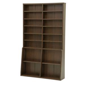 【最大1万円クーポン9/15〜19】書棚 本棚 壁面収納 キャビネット 木製 BK-1220BR|lookit