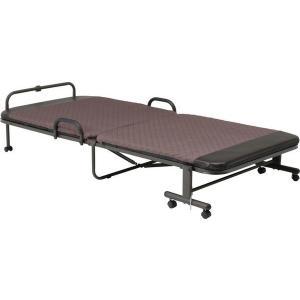 折りたたみベッド シングル キャスター付き リクライニングベッド 介護ベッド シングルベッド KJ-120|lookit