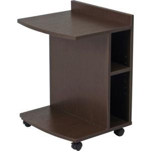 サイドテーブルハイ 小物や雑貨に 簡単移動 SI-4562BR|lookit