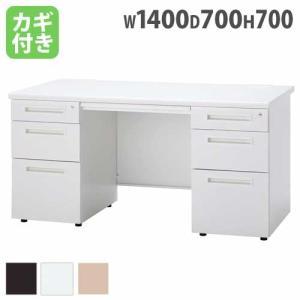 新品 デスク オフィスデスク 両袖机 W1400mm オフィス家具 DESK ODS-147-3L3R|lookit