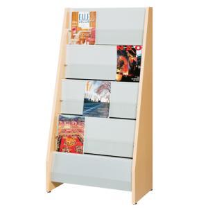 雑誌架 3列4段 オフィス 待合室 ラウンジ 木製 化粧合板 木製雑誌架 マガジンラック 閲覧 化粧合板 アジャスター付き W750 D450 H150mm MN-750PS|lookit