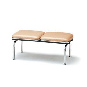 ロビーチェア 2人用 ベンチ 抗菌 防汚 シンプル カラフル 椅子 チェア ロビー オフィス FUL-2NL|lookit