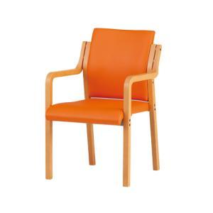 ダイニングチェア スタックチェア 積重ね ミーティング用 食堂椅子 介護チェア 椅子 受付ロビー フロアー 待合室 控室 福祉関連商品 老人ホーム FVM-6AL|lookit
