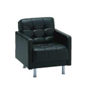 ロビーチェア アームチェア ソファー 接客用 椅子 イス いす 1人掛け パーソナルチェア 応接室 ラウンジ ロビー 高級 黒 合皮 ローソファー ブラック SF-700 lookit