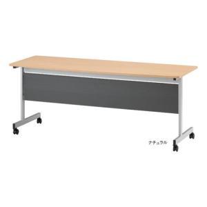天板固定のミーティングテーブル! キャスター付きで移動もらくらく行えます。 キャスター上部のリングを...